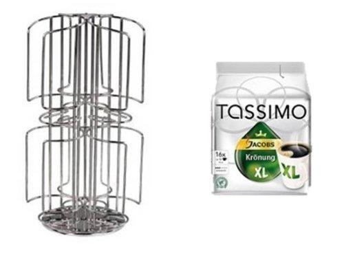 Tassimo Jacobs Krönung XL +Tassimo Kapselhalter für NEU 64 Kapseln 2 Schächte Neu passend auch für die grossen Milchkapseln nicht nur 3 Sorten sondern bis zu 6 Sorten griffbereit