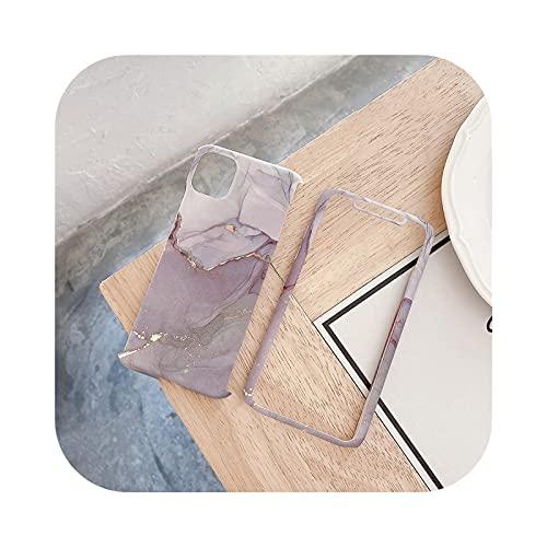 Henraly - Carcasa para iPhone 12, diseño de mármol con purpurina para iPhone XS 12 Mini 11 Pro Max 7 8 Plus se 2020 X XR fundas traseras blandas Pp225-For-Iphone11