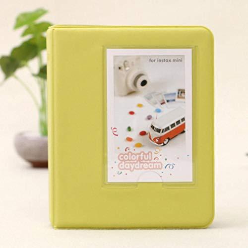 EDCV Candy Color 64 zakken 3 inch Polaroid fotoalbum voor Polaroid, geel