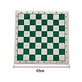 OSISTER7 - Tabla de ajedrez con arquero para adultos y niños, de piel sintética, enrollable, juego educativo para el hogar y viajes, No nulo, como se muestra en la imagen, 42 cm