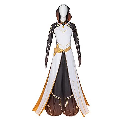 YOU339 Genshin Impact Cosplay Kostüm Morax Halloween Cosplay Outfits Halloween Karneval Party Phantasie Rollenspiel Kleidung Outfit Komplettes Zubehör Set