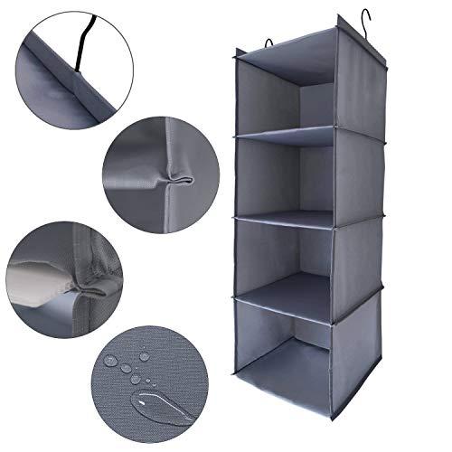 Amira 吊り下げ収納 衣類ラック 収納 クローゼット 水洗い可能 防湿防カビ 折りたたみ (4階)