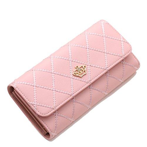 Malloom - Pochette da donna in pelle con portafoglio e portatessere