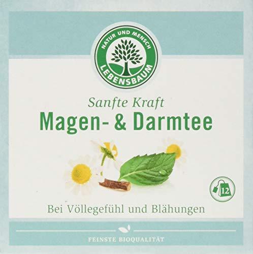 Lebensbaum Sanfte Kraft Kräutertees Im Teebeutel - Einzeln Kuvertiert - Magen- Und Darmtee, 24 g