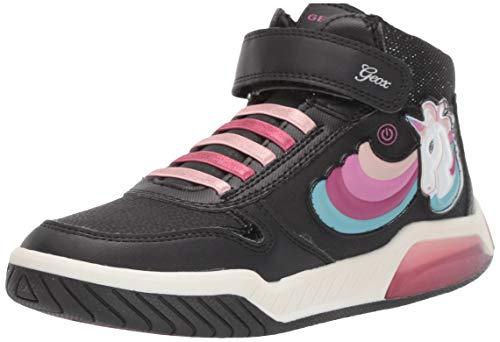 Geox J INEK Girl B, Zapatillas Altas para Niñas, Negro C9999, 34 EU