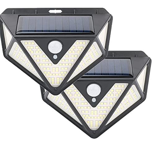 Luces Solares Al Aire Libre,lámpara De Pared Impermeable con Energía Solar Luces Led con Sensor De Movimiento Solar,3 Modos De Inducción Ip65 A Prueba De Agua