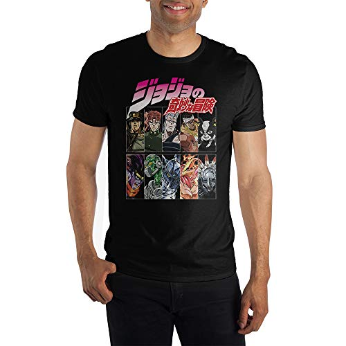 JoJo's Bizarre Adventure Stardust Crusaders Joestar Group Black Short-Sleeve T-Shirt-Medium