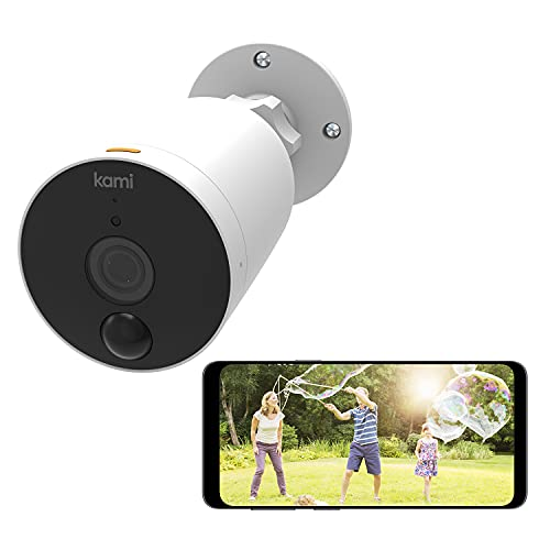 [2021] Kami by YI Outdoor Wireless Security Camera System, Solar Powered, Enhanced Night Vision, Human Detection, Long Battery Life 1080p, Waterproof, Compatible with Alexa and Google Assistant