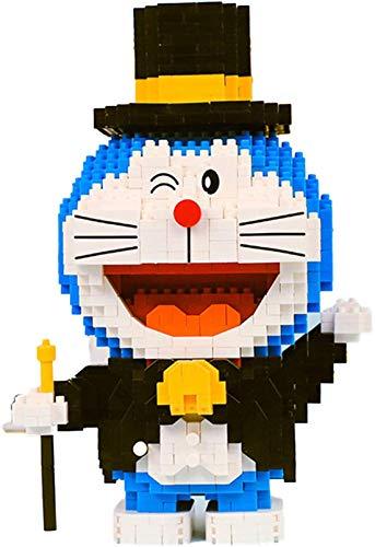 LNLJ Doraemon con Serie Hat Bloque De Bloques De Bloque Micro Mini Ladrillos Toys Regalos para Niños Y Adultos,B