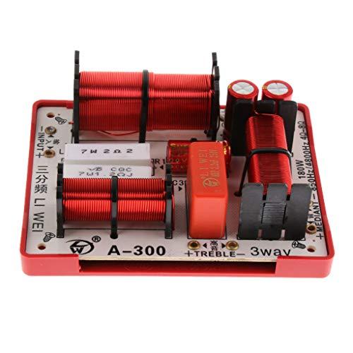 P Prettyia Diviseur de Fréquence Audio de Croisement Haut-parleurs Filtres 180w à 3 Voies Hi/Mi/Lo Crossover Conseil DIY