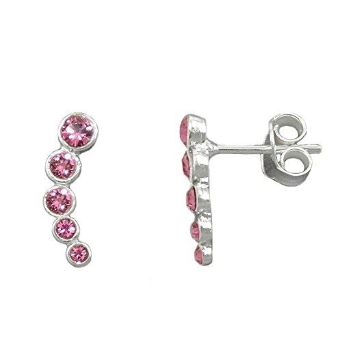 Orecchini a perno 93646 - 5 Glasstones Pink Silver 925