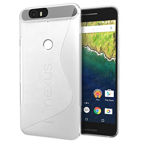 Nexus 6P Case, Cimo [Wave] Premium Slim TPU Flexible Soft Case for Huawei Google Nexus 6 (2015) - Clear