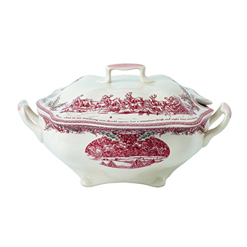 Johnson Brothers Twas The Night Bowl Pink/Ivory 12.8' Covered Serving Dish