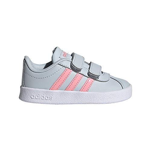 adidas VL Court 2.0 CMF I, Zapatillas de Deporte, AZUHAL/SUPPOP/FTWBLA, 25.5 EU