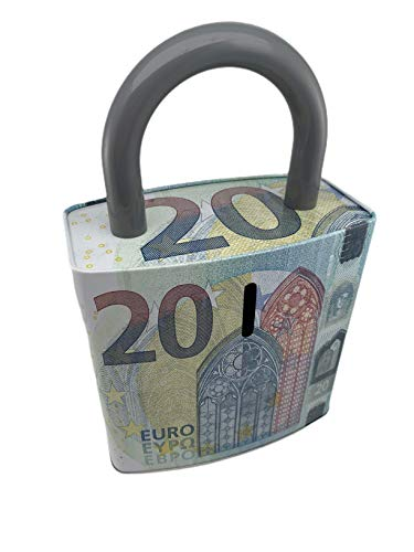 Hucha, Alcancía en Forma de Candado 20 Euros - 26x16 cm