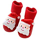 LuckyBB Christmas Newborn Baby Step Socks