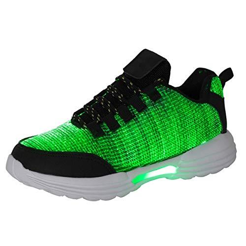 Herren Damen LED Sport Schuhe 7 Farbwechsel USB Leuchtend Sportschuhe Sneaker Turnschuhe Outdoor Leichtathletik Beiläufige Schuhe Sneakers Blinkende Liebhaber Erwachsene Sneaker für Jungen Größe 25-46