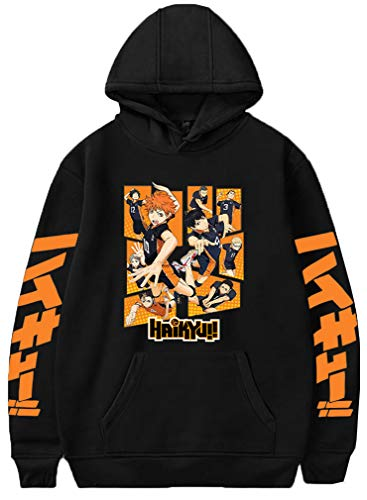 Men's Hoodie Haikyuu Hinata Shoyo Anime Karasuno High School Volleyball Pullover
