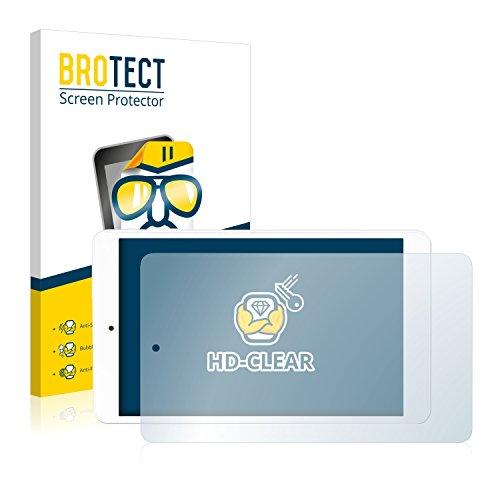 BROTECT Schutzfolie kompatibel mit Odys TigerTab 8 (2 Stück) klare Displayschutz-Folie