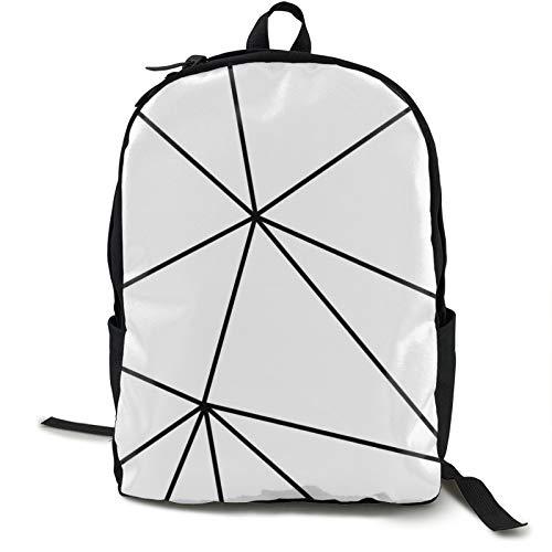 Zara Rucksack, leicht, faltbar, ultraleicht, verstaubar, einfarbig, geometrisch, weiß, schwarz, Unisex, langlebig, handlich, Tagesrucksack für Reisen und Outdoor-Sportarten