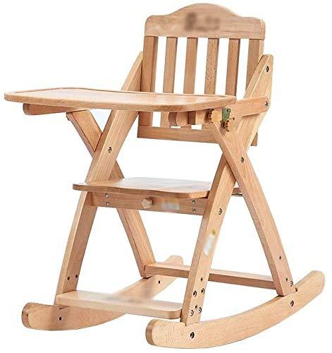 Trona asiento de seguridad para niños Trona Portatil Bebe plegable Mesa de madera maciza oscilación multifunción Trona Portatil Bebe al aire libre para los niños externos portátiles