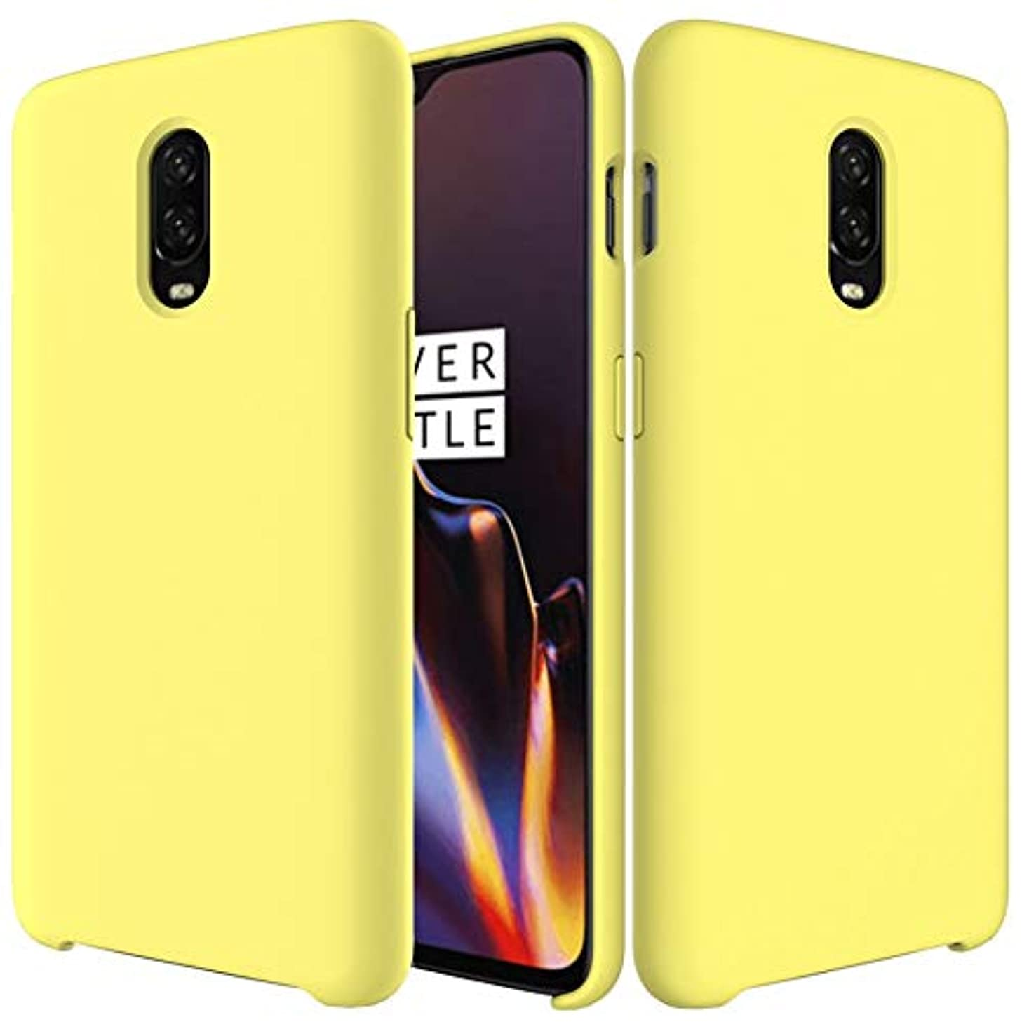 Cases, Holsters & Clips Soft Rubber Comfortable Protective Case for OnePlus 6T with Shockproof Premium Ultra Slim Liquid Silicone (Color : Yellow)