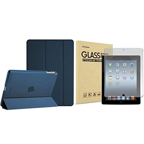 ProCase iPad 2 3 4 Case (Old Model) Bundle with iPad 2 3 4 Screen Protector Anti-Glare Matte (Old Model)