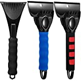 Mudder 3 Pieces Car Ice Snow Scraper Snow Ice Removal Tool Snow Frost Scraper with Foam Handle Removing Snow, Frost and Ice from Cars Windshield Small Trucks SUV