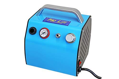 Pro-Lift-Werkzeuge Airbrush Mini Kompressor 2 Zylinder 23l/min 0,3l Kessel 230V wartungsfrei ölfrei Abschaltautomatik KolbenKompressor 2 Zylinder