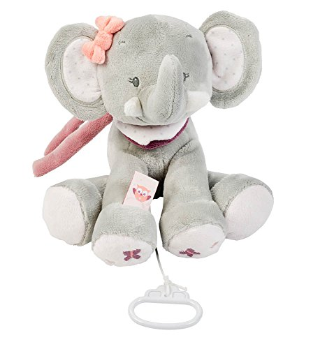 Nattou Spieluhr, Mädchen, 28 cm, rosa - Adèle der Elefant
