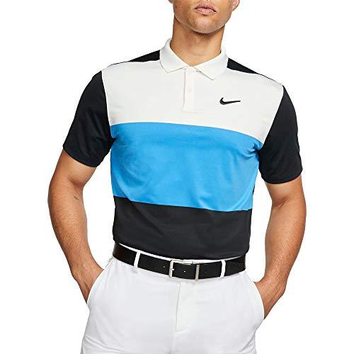 Nike Herren M Nk Dry Vapor Cb Polo, sail/lt Photo Blue/Black/Black, L