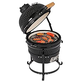 outdoor gourmet kamado ceramic grill