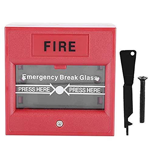 OWSOO Botón de Emergencia, Desbloqueo de Puerta de Emergencia Interruptor de Alarma de Incendio Interruptor de Liberación de Salida de Vidrio Roto