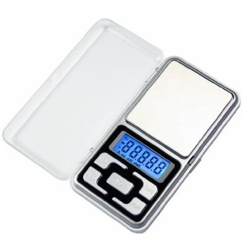 Skywalk Digital Plastic Pocket Weighing Scale for Kitchen and Jewellery Weight Upto 200g (Grey)
