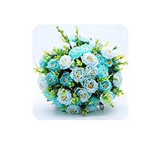 Real Images Wedding Flowers Bridal Bouquets Rose Beautiful Bridesmaid Bouquet,Blue