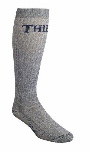 Thibet Stiefelsocken mit Wolle (Merinowolle) - Country Socks, Farben alle:grau, Größe:44-47