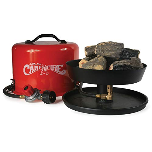 Camco 58031 Little Red Campfire Compact Outdoor Portable Tabletop Propane Heater Fire Pit Bowl for Camping, Tailgating, and Patios, 11.25 Inch