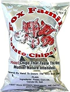 Fox Family Potato Chips, 7oz, Made in Maine - Gluten Free (Plain)