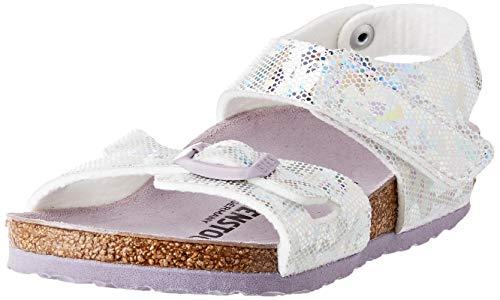 BIRKENSTOCK Mädchen Colorado Microfibre Hologram Silver Lavender Sandale, 28 EU Étroit