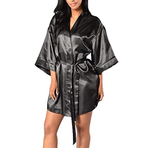 Luotuo Damen Sexy Spitzenkleid Babydoll Negligee Nachthemd Kleid Spitze Lingerie Dessous Durchscheinend Nachtwäsche Sleepwear Nachthemd Pyjama mit G-String