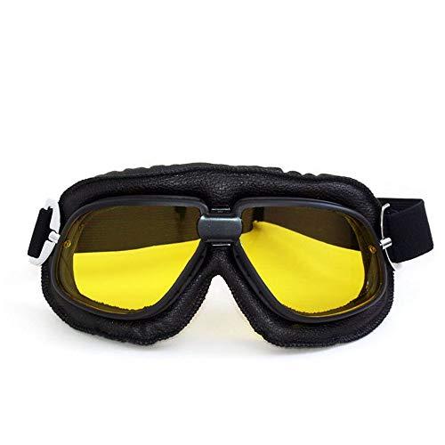 Micss-sunglasses Tragbare Fahrradsonnenbrille Groß Blenden Sie Farbe Radfahren Goggles Langlaufbrillen Retro Harley Goggles Outdoor Sportbrillen Für den Outdoor-Radsport (Farbe : Gelb)