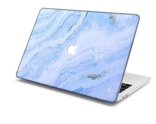 MacBook Pro 15 Case Model:A1707/A1990,QiuHuiCase Plastic Shell Cover Only Compatible 2018-2016 Release MacBook Pro 15' with Touch Bar Touch ID (Marble 264)