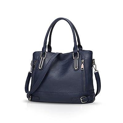 NICOLE & DORIS Femmes Sac à bandoulière Sac fourre-Tout Sac à Main Messenger Bag PU Cuir Grande capacité