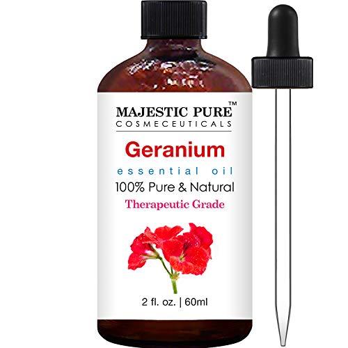 Majestic Pure Geranium (Pelargonium Asperum) Essential Oil Therapeutic Grade, 2 fl.Oz