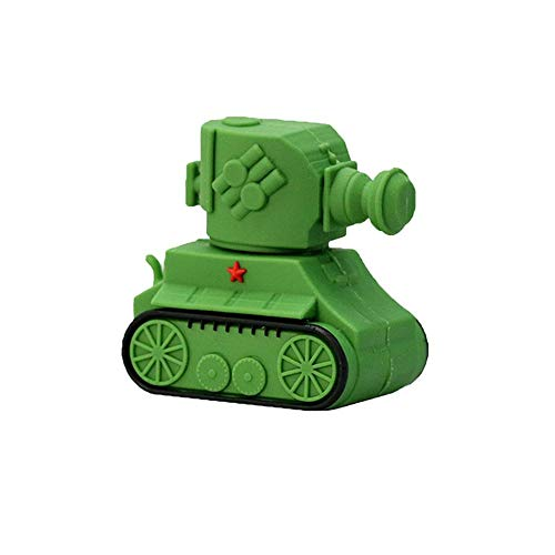 Novelty Memory Stick 32GB Tank Pen Drive USB 2.0 Cartoon Green Tank Shape Memory Stick Thumb Drives for Date Storage - Civetman
