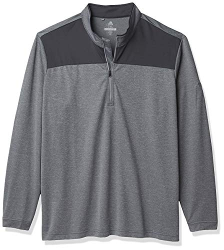 adidas Golf - Pullover da uomo leggero con cerniera UPF 1/4, Uomo, Pullover leggero, UPF, con cerniera 1/4, TM4313S8, Carbonio Heather, S