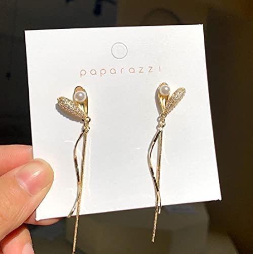 XCWXM Fashion Tide Moon Women's Dangling Earrings Star Moon Long Tassel Earrings Women Korean Jewelry-2