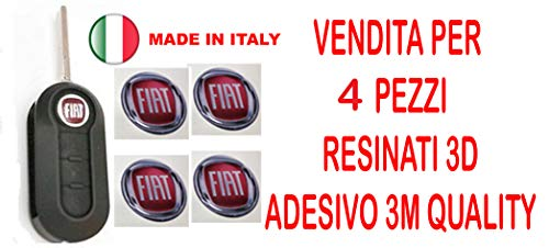 GTBTUNING 14 mm Adesivo Stickers per Chiave Logo Stemma Badge resinato Effetto 3D 3m Quality per 4 Pezzi