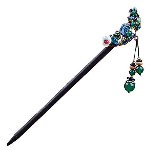 Sharplace Handgemachte Haarnadel Haarstab Haar Stäbchen, Einfaches und Elegantes Haarschmuck - B
