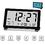 Reveil de Voyage Pliable, Horloge Digital Silencieux Réveil Electronique Grand Écran LCD avec...
